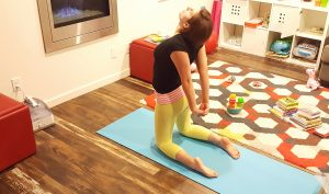 yoga camel pose