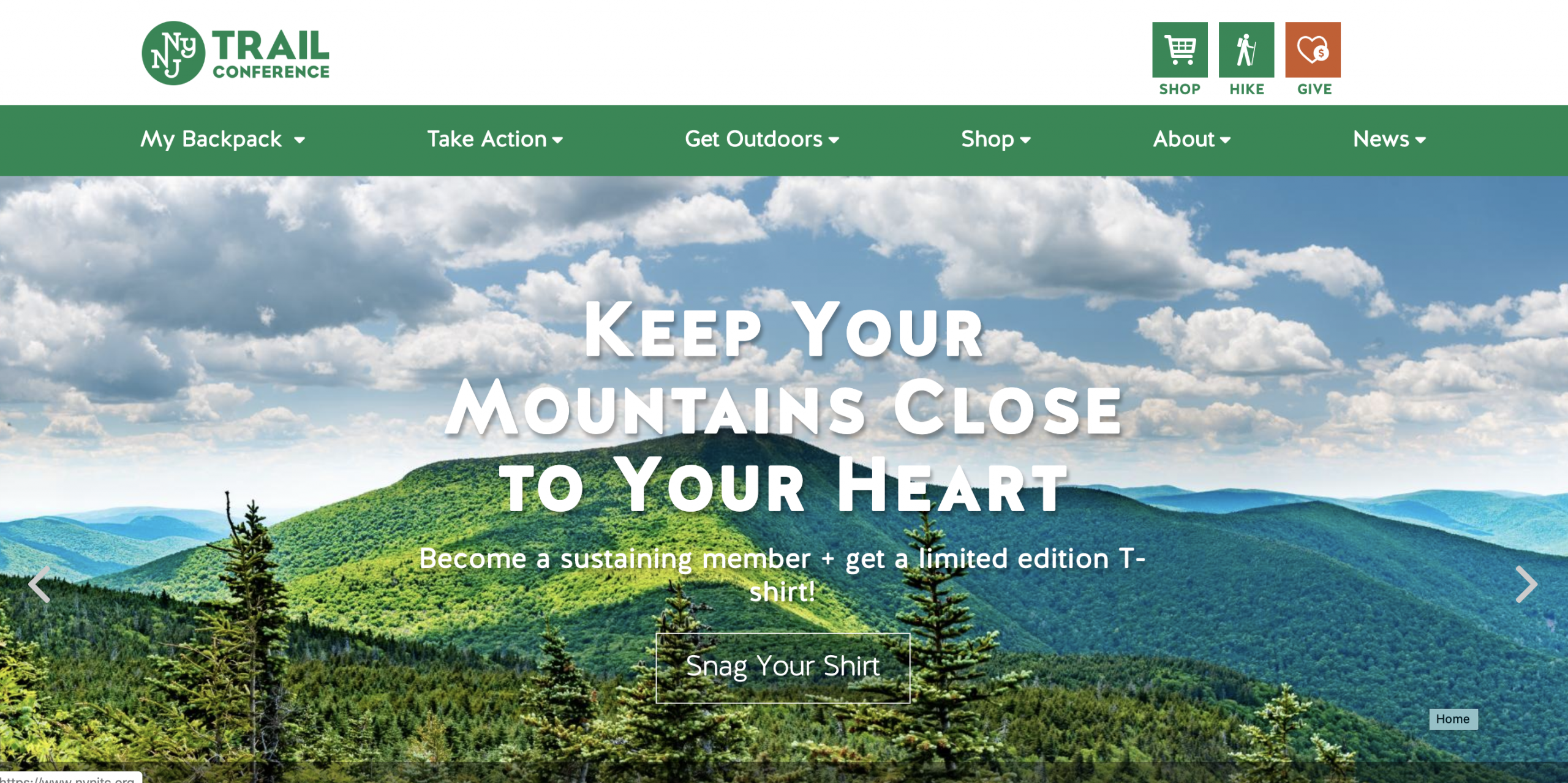 New York-New Jersey Trails Conference Website